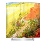 One Fine Spring Day Shower Curtain