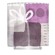 One Flower- Contemporary Painting Shower Curtain by Linda Woods