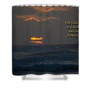 One Golden Thread Shower Curtain