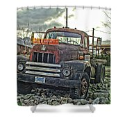 One Headlight International Shower Curtain