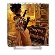 One Hundred Years Of Lithography Shower Curtain