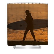 One Last Wave Shower Curtain by Bruce Frye
