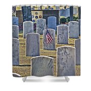 One Lonely Flag Shower Curtain