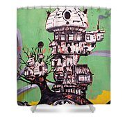 One Love Panda Shower Curtain