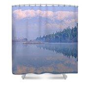 One Mile Lake, Near Pemberton, Bc In Shower Curtain