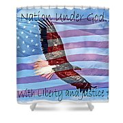 One Nation... Shower Curtain