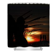 One Night At The Seashore  Shower Curtain