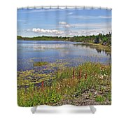One Of Many Lakes In Newfoundland Shower Curtain