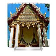 One Of Many Pagodas In Bangkok-thailand Shower Curtain