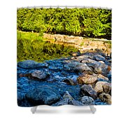 One River - Three Flows Shower Curtain