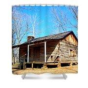 One Room Pioneer Log Cabin  Shower Curtain
