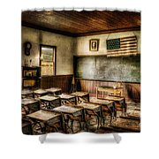 One Room School Shower Curtain by Lois Bryan