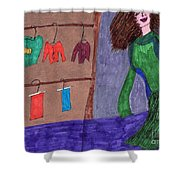 One Size Down Shower Curtain