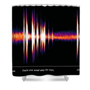 One Small Step With Words Shower Curtain