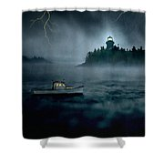 One Stormy Night In Maine Shower Curtain by Edward Fielding