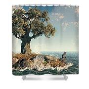 One Tree Island Shower Curtain
