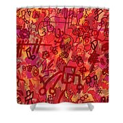 One Wall Shower Curtain
