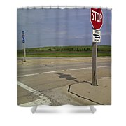 One Way Stop Shower Curtain
