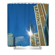 One World Trade Center Shower Curtain by Dan Sproul