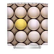 One Yellow Egg With White Eggs Shower Curtain