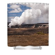Ongoing Eruption Shower Curtain