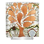 Only As Far As I Seek Can I Go Shower Curtain by Nikki Smith