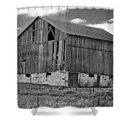 Ontario Barn Monochrome Shower Curtain