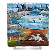 Ontario Heritage Mural Shower Curtain