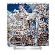 Ontario Summer Color Infrared Shower Curtain