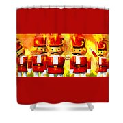 Onward Toy Soldiers Shower Curtain