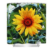 Onyx Store Sunflower Shower Curtain