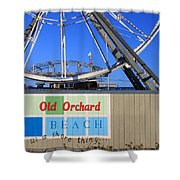 Oob- Its A Shore Wheel Shower Curtain