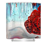 Op And Rose Shower Curtain by Peggy  Blood