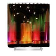 Open Air Theatre Rainbow Fountain Shower Curtain