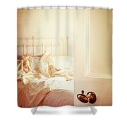 Open Bedroom Door Shower Curtain