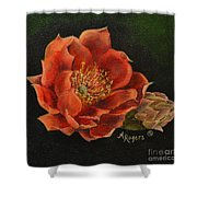 Open Bloom Shower Curtain
