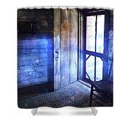 Open Cabin Door With Orbs Shower Curtain