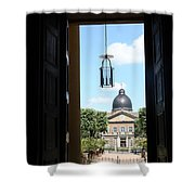 Open Church Door - Macon Shower Curtain