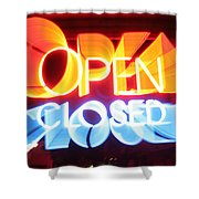Open Closed Shower Curtain