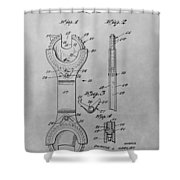 Open End Ratchet Wrench Shower Curtain