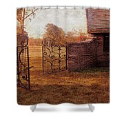 Open Gate By Cottage Shower Curtain