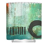Open Gate- Contemporary Abstract Painting Shower Curtain