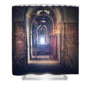 Open Gate To Prison Hallway Shower Curtain