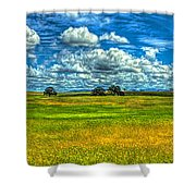 Open Pastures Shower Curtain