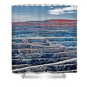 Open Pit Gold Shower Curtain