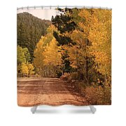 Open Road 4 Shower Curtain