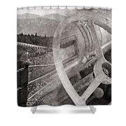 Open Road Shower Curtain by Edward Fielding