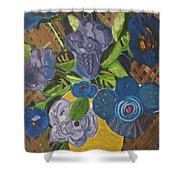 Open Roses Shower Curtain