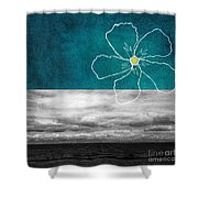 Open Spaces Shower Curtain by Linda Woods