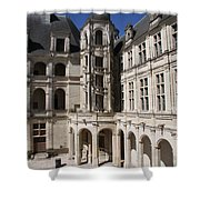 Open Staircase Chateau Chambord - France Shower Curtain
